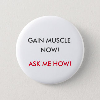 Pin's Bouton de gain de muscle