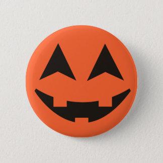 Pin's Bouton de Halloween de visage de citrouille de