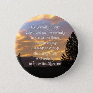 Pin's Bouton de lever de soleil de prière de sérénité