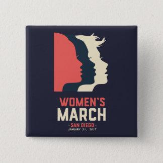 Pin's Bouton de mars des femmes de San Diego