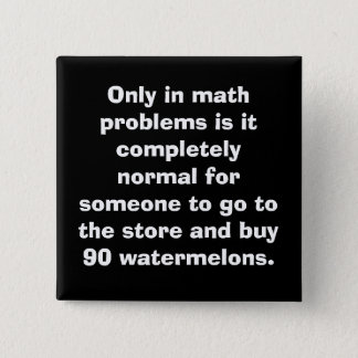 Pin's Bouton de maths de pastèques