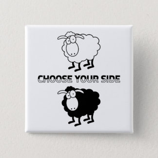 Pin's Bouton de motivation de moutons noirs et blancs