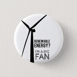 Pin's Bouton de moulin à vent d'énergie renouvelable de