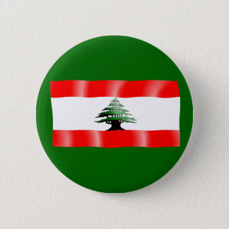 Pin's Bouton de ondulation de drapeau du Liban