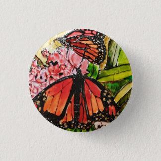 Pin's Bouton de papillon peint par verre