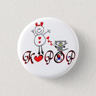 Pin's Bouton de Pin d'art de vecteur de fan de KPOP No.1