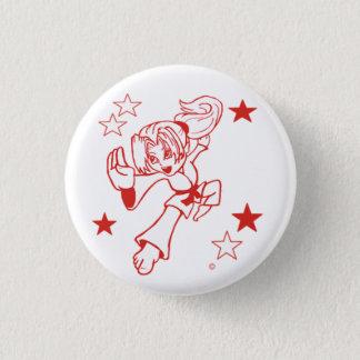 Pin's Bouton de pinback de fille de célébration