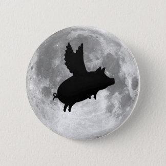 Pin's bouton de porc de vol de pleine lune