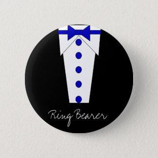 Pin's Bouton de porteur d'alliances (bleu)