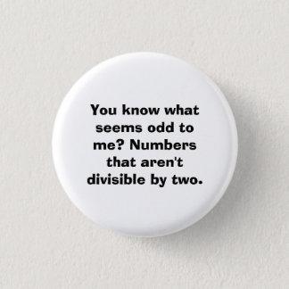 Pin's Bouton de professeur de maths de calembour de