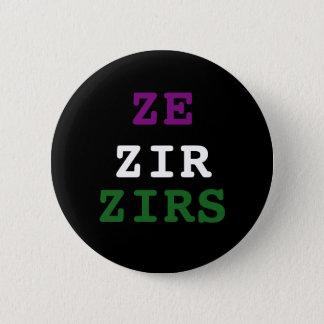 Pin's Bouton de pronom de Ze/zir/zirs