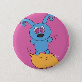 Pin's Bouton de Rolly de saut de coussin petit