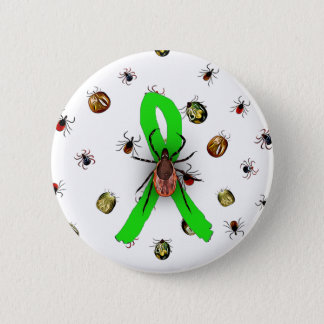 Pin's Bouton de ruban de la maladie de Lyme de