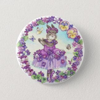 Pin's Bouton de violette douce