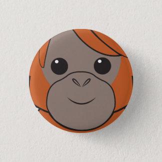 Pin's Bouton de visage d'orang-outan de Sumatran