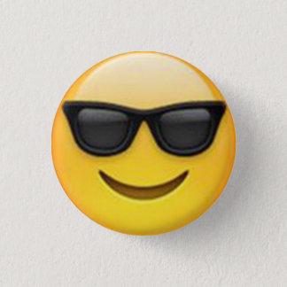 Pin's Bouton d'Emoji de lunettes de soleil