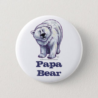 Pin's Bouton d'ours blanc d'ours de papa