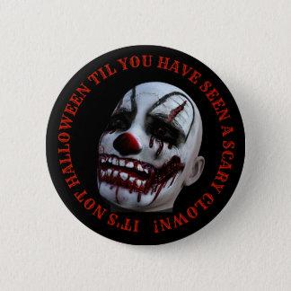 Pin's Bouton éffrayant de clown de Halloween