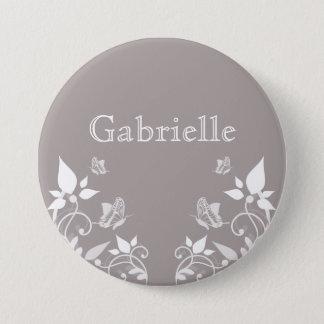 Pin's Bouton floral de papillon en ivoire