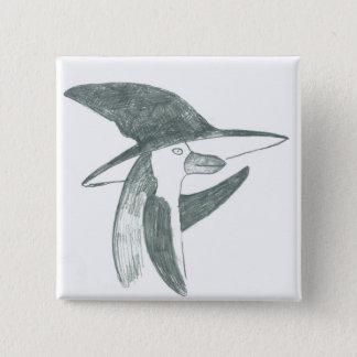 Pin's bouton heureux de pingouin