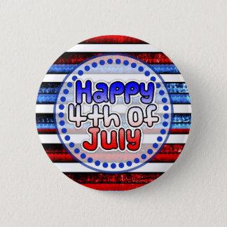 Pin's Bouton heureux rayé de bleu blanc 4 juillet