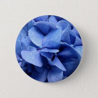 Pin's Bouton/insigne bleus d'hortensia