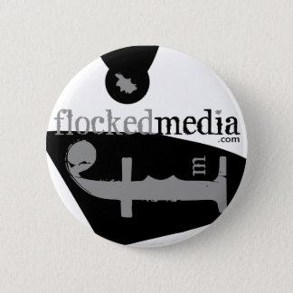Pin's Bouton latéral gris assemblé de logos de médias