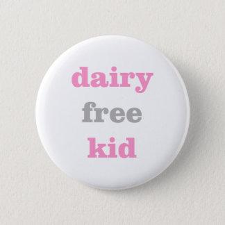 Pin's bouton libre d'allergie de lait de laiterie pour