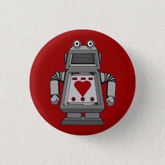 Pin's Bouton malade d'amour de robot