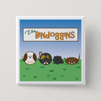 Pin's Bouton mignon de chiens, le Bindoggins