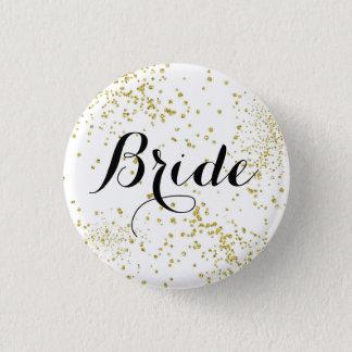 Pin's Bouton mignon de jeune mariée de parties