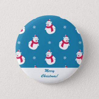 Pin's Bouton mignon d'ours blanc de Noël