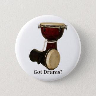 Pin's Bouton obtenu de tambours