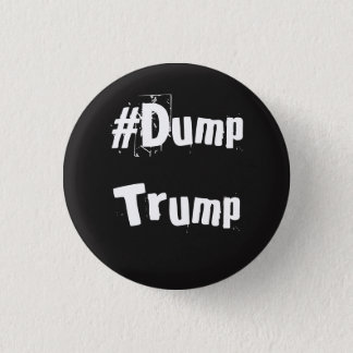 Pin's Bouton officiel de #DumpTrump