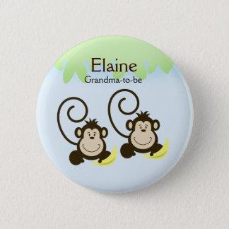 Pin's Bouton personnalisé par ÉTIQUETTE NOMMÉE IDIOTE de