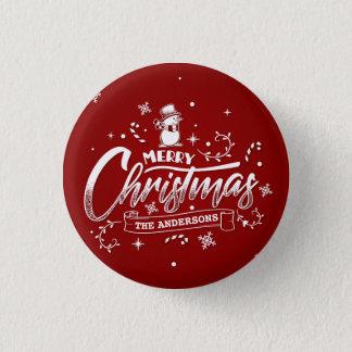 Pin's Bouton personnalisé simple de Pin de Noël de