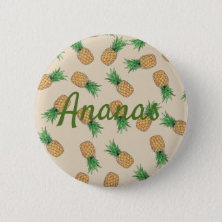 Pin's Bouton rond Ananas