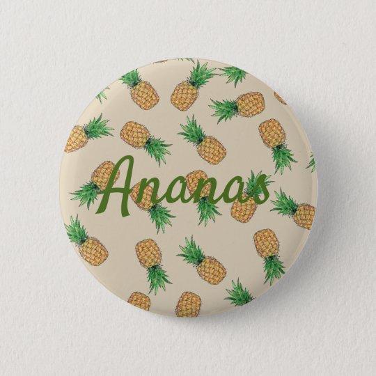 Pin's Bouton rond Ananas