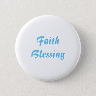 Pin's Bouton rond - bénédiction de foi