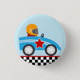 Pin's Bouton rond de goupille de voiture de course
