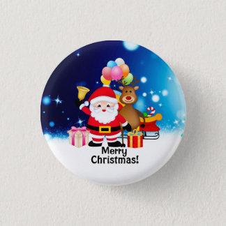 Pin's Bouton rond de Joyeux Noël