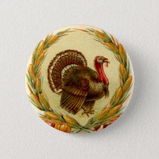 Pin's Bouton rond de la Turquie de thanksgiving vintage