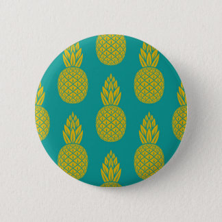 Pin's Bouton rond de motif hawaïen tropical d'ananas