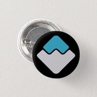 Pin's Bouton rond d'icône de VAGUES