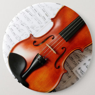 Pin's Bouton rond - violon d'instrument de musique