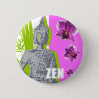 Pin's Bouton rond ZEN
