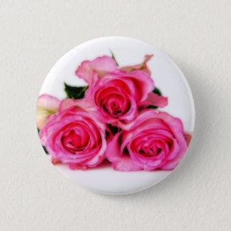 Pin's Bouton rose de roses
