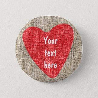 Pin's BOUTON rustique de Valentines de mariage