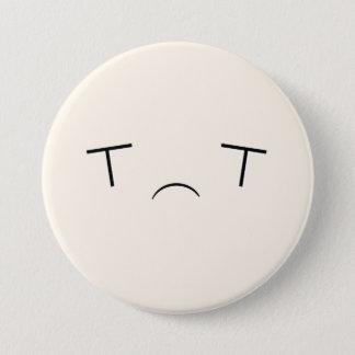 Pin's Bouton triste superbe de Kawaii Emoji