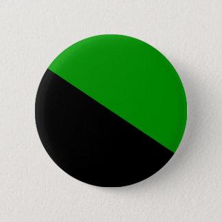 Pin's Bouton vert de drapeau d'anarchiste